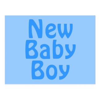 New Baby Boy. Blue. Postcard