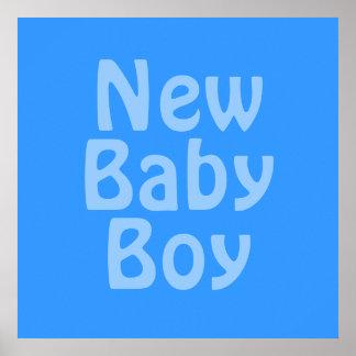 New Baby Boy. Blue. Print