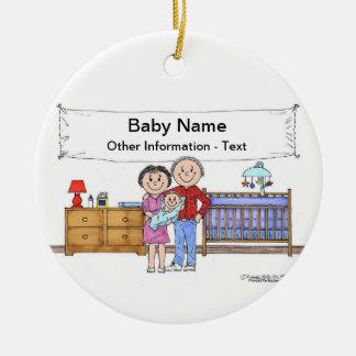 New Baby Boy Ceramic Ornament