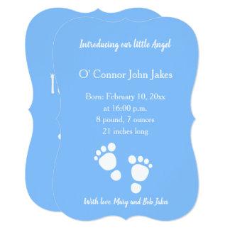 New Baby Boy footprint announcement