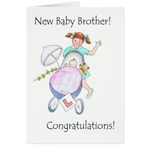 New Baby Brother Congratulations Card