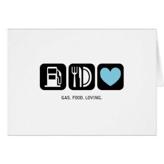 New Baby Card: Gas-Food-Loving (Boy) Card