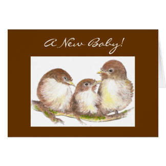 New Baby, Congratulations, Cute Birds Card