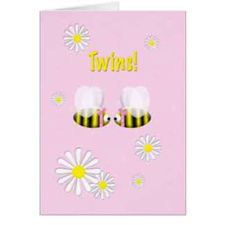 New Baby Congratulations Twin Girls Cards
