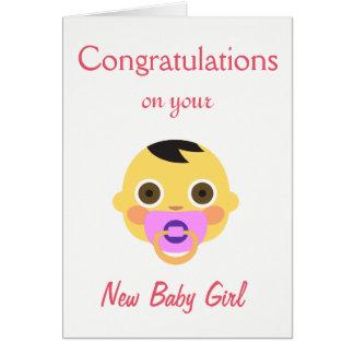 New Baby, Emoji. Card