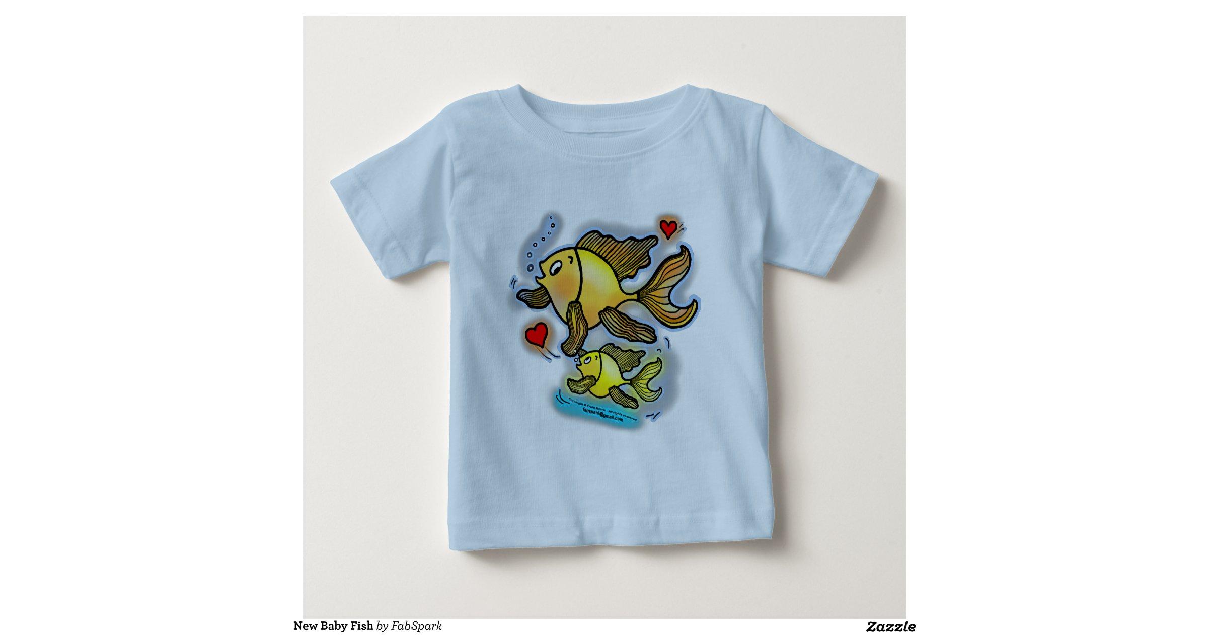 New baby fish t shirt zazzle for Baby fishing shirts