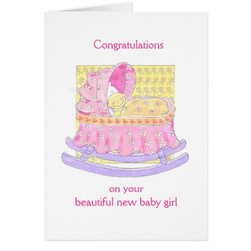 new baby girl greeting cards