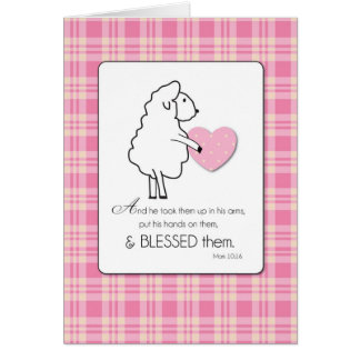New Baby Girl Congratulations Religious Lamb Card