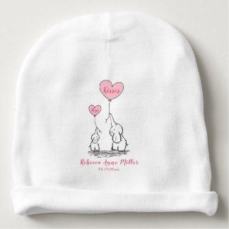 New Baby Girl Hugs And Kisses Elephant Baby Beanie