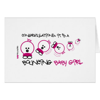 NEW BABY GIRL ROUNDIE CARD
