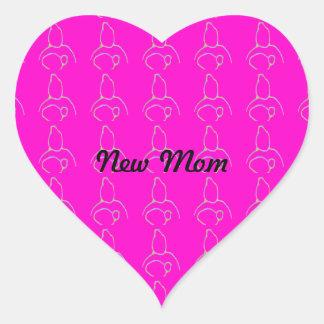 New baby heart sticker