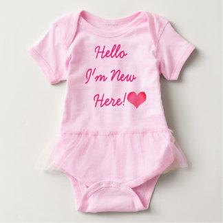 New Baby New Here Bodysuit-TUTU Baby Bodysuit