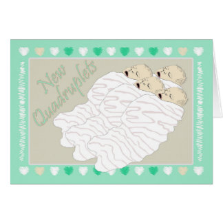 New Baby Quadruplets Card