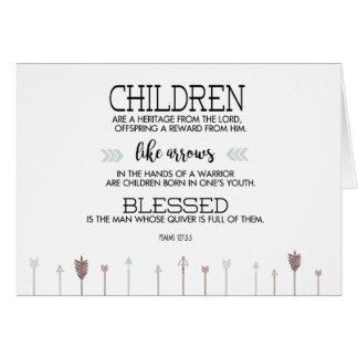 New Baby Scripture Verse with Arrows Greeting Card