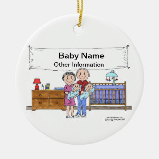 New Baby, Twins - Boys Ceramic Ornament