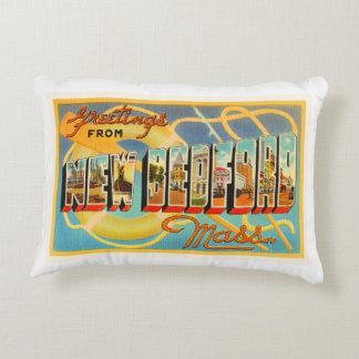 New Bedford Massachusetts MA Old Travel Souvenir Decorative Pillow