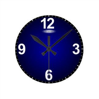 New Beginnings Fade to Blue Modern Clock