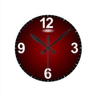 New Beginnings Fade to Red Modern Clock