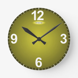 New Beginnings Fade to Yellow Modern Clock