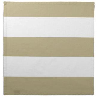 New Beige Tan & White Stripe Cloth Napkins