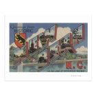New Bern, North Carolina - Large Letter Scenes Postcard