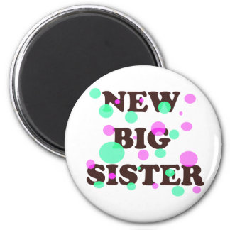 New Big Sister 2 Inch Round Magnet