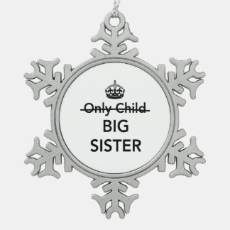New Big Sister Snowflake Pewter Christmas Ornament