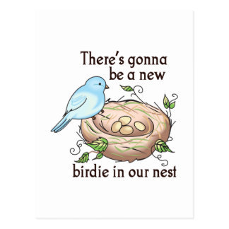 NEW BIRDIE IN OUR NEST POST CARDS