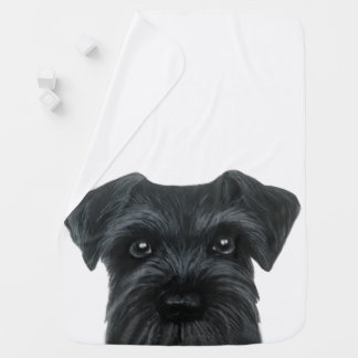 New Black Schnauzer, original design Baby Blanket