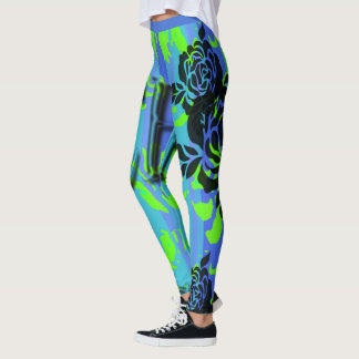NEW-BLUE-SURFER-BE-BEACH-PATCH-LEGGING'S_XS-XL LEGGINGS