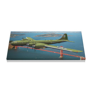 New Bomber over California B-29 Superfortress Canvas Print