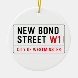 New Bond Street Ceramic Ornament