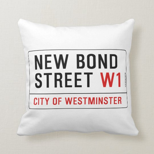 New Bond Street Throw Pillow