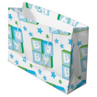 New born boy large gift bag