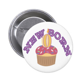 New Born 2 Inch Round Button
