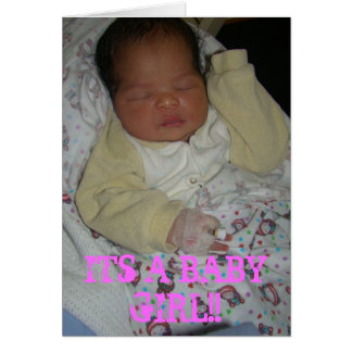 NEW BORN GIRL CARD