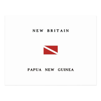 New Britain Papua New Guinea Scuba Dive Flag Postcard
