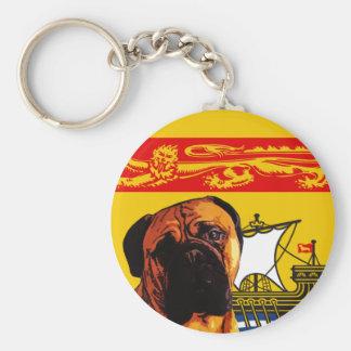 New Brunswick Bull Mastiff Basic Round Button Keychain