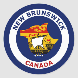 NEW BRUNSWICK, CANADA CLASSIC ROUND STICKER