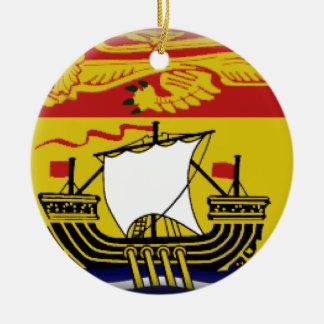 New Brunswick (Canada) Flag Ceramic Ornament