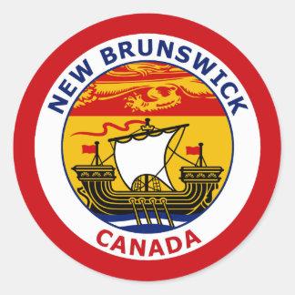 NEW BRUNSWICK, CANADA ROUND STICKER