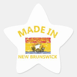 New Brunswick Coat of arms Star Sticker