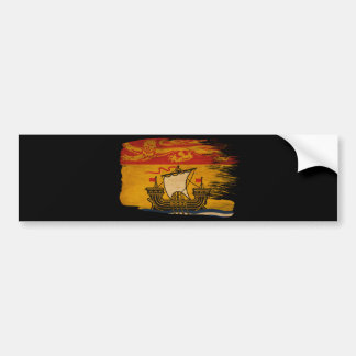 New Brunswick Flag Bumper Sticker