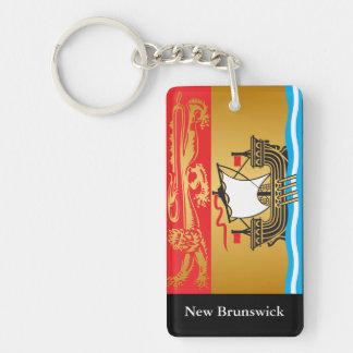 New Brunswick flag Double-Sided Rectangular Acrylic Keychain