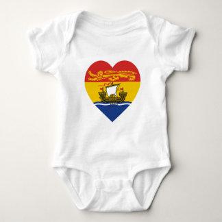 New Brunswick Flag Heart Baby Bodysuit