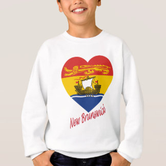 New Brunswick Flag Heart with Name Sweatshirt