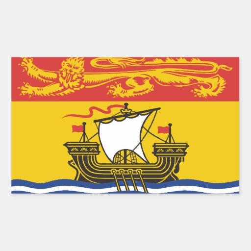 New Brunswick Flag Rectangular Stickers