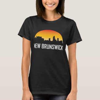 New Brunswick New Jersey Sunset Skyline T-Shirt