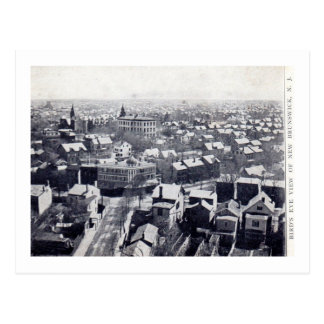 New Brunswick NJ, Bird's Eye View 1906 Vintage Postcard