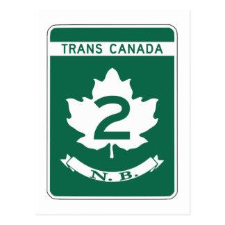 New Brunswick, Trans-Canada Highway Sign Postcard